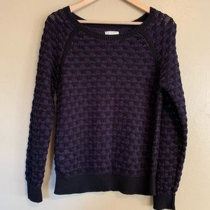Lou & Grey | Purple & Black Sweater | Medium